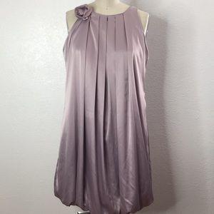 Max Mara Silk Bubble Hem Lilac Party Dress 4